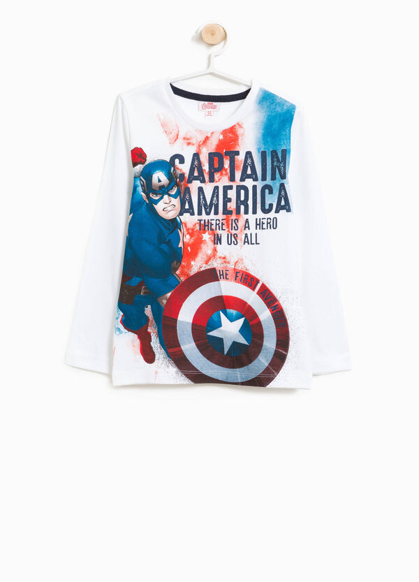 Cotton T-shirt with Captain America print | OVS