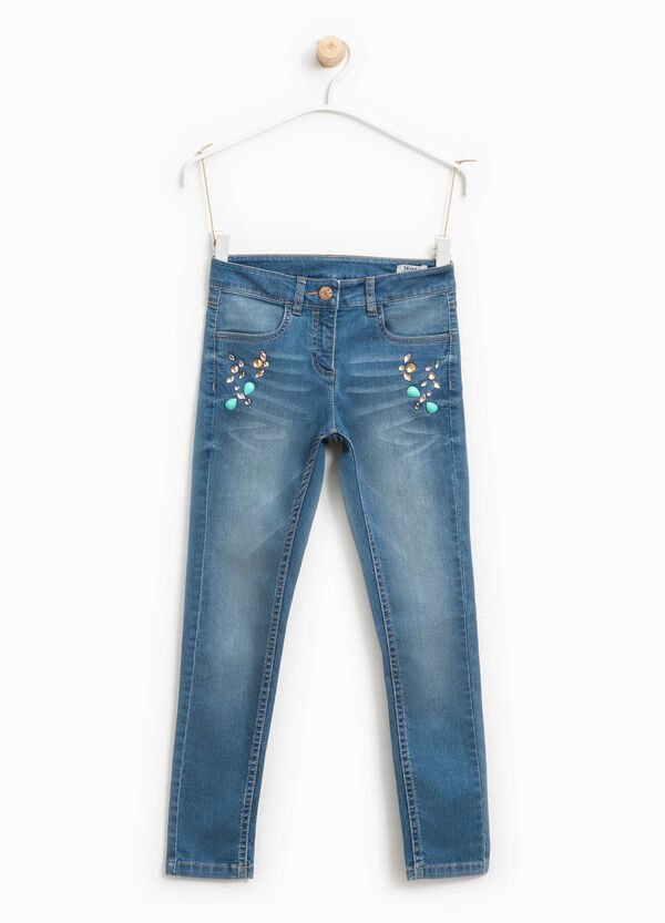 Jeans skinny fit used con strass | OVS