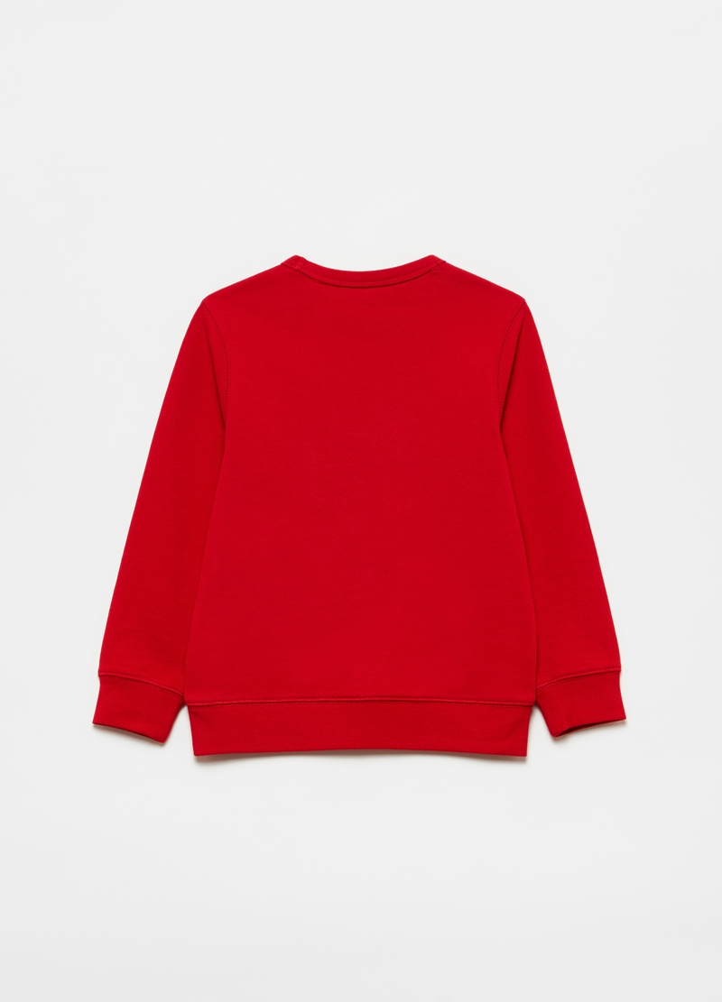100% cotton sweatshirt with round neck image number null