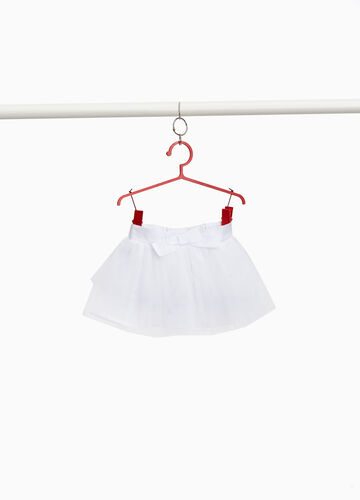 Tulle skirt with bow