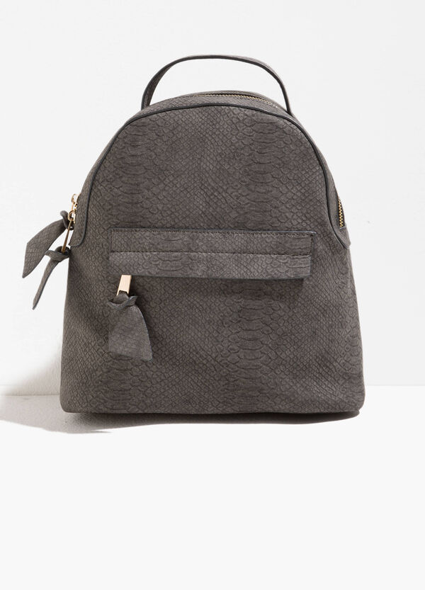 Backpack with snakeskin texture | OVS