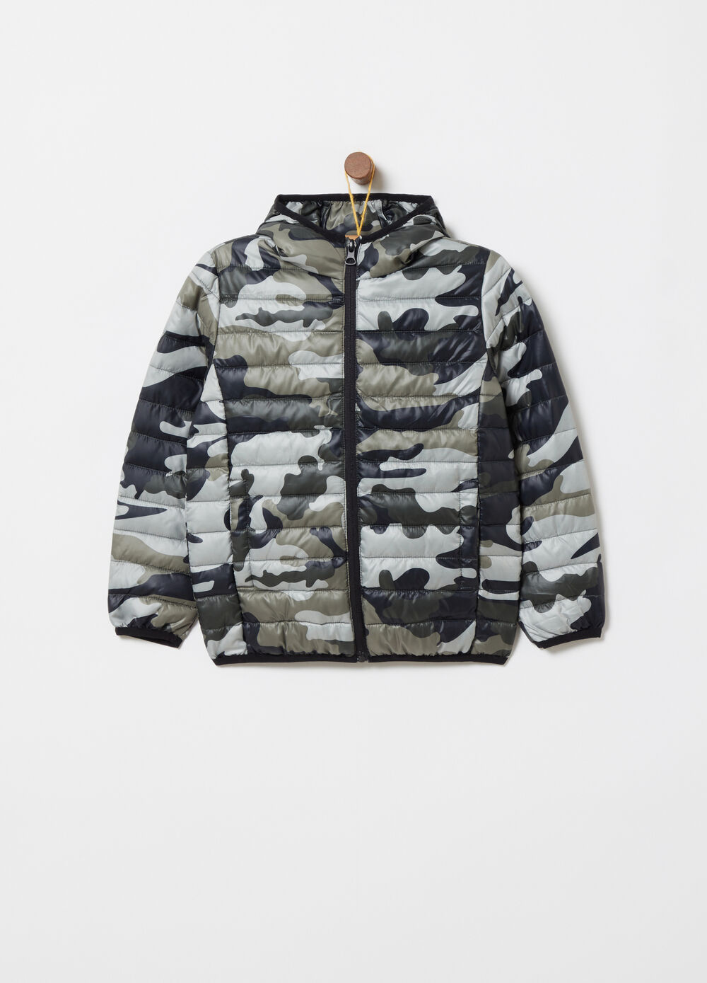 Ultralight jacket with all-over camouflage