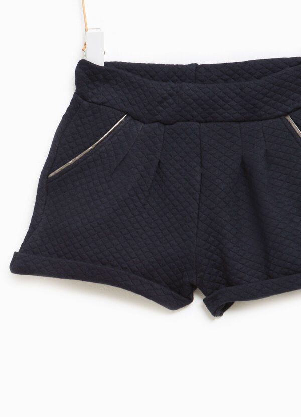 Cotton shorts with diamond weave | OVS