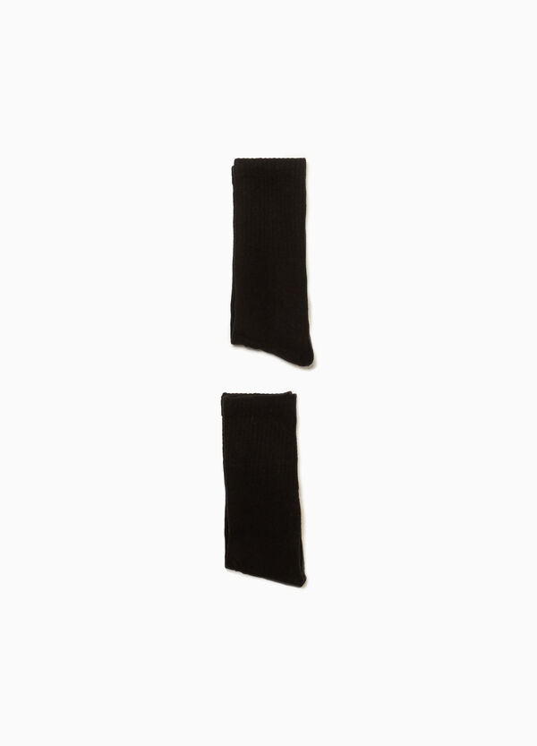 Two-pair pack cotton blend socks