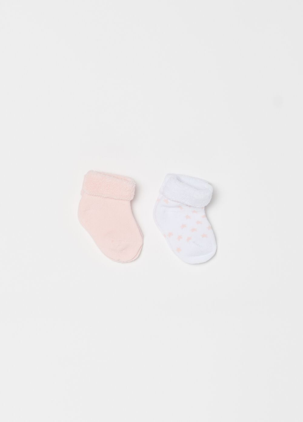 Two-pair pack short socks with stars pattern