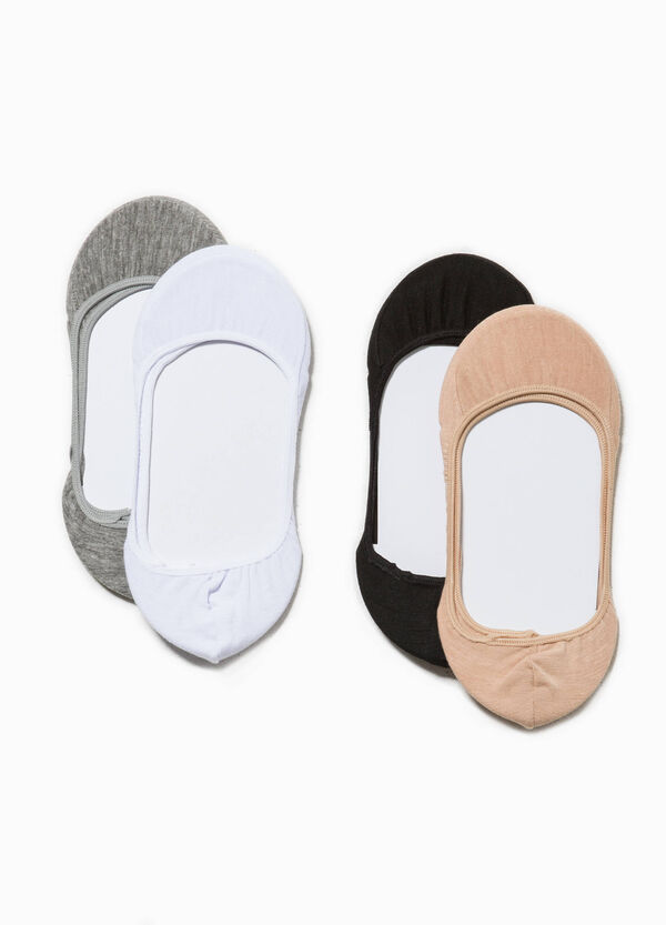Four-pair pack shoe liners | OVS