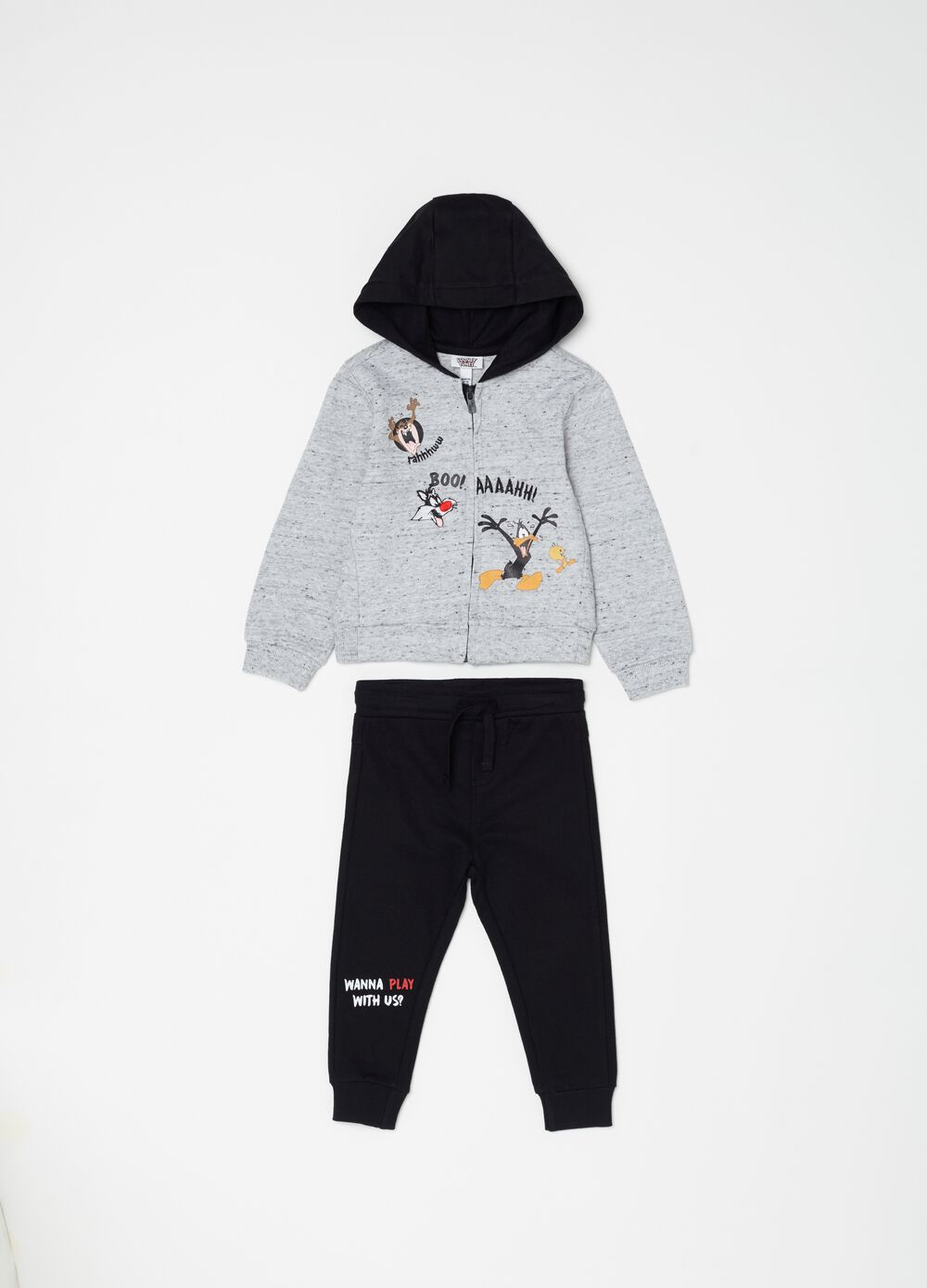 Warner Bros Looney Tunes jogging set with zip