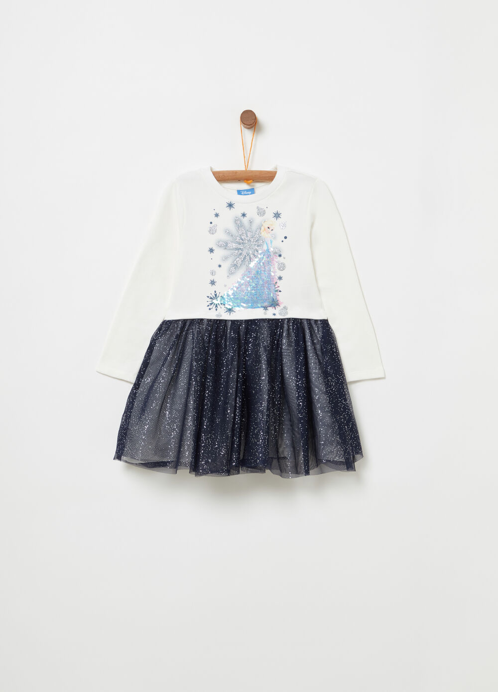 Brushed fleece dress with Frozen print