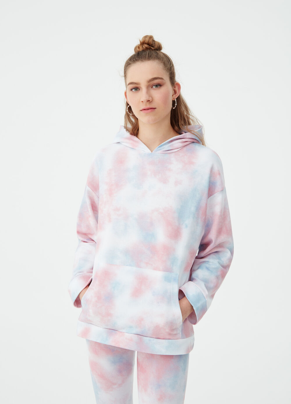 Multicoloured shaded-effect sweatshirt