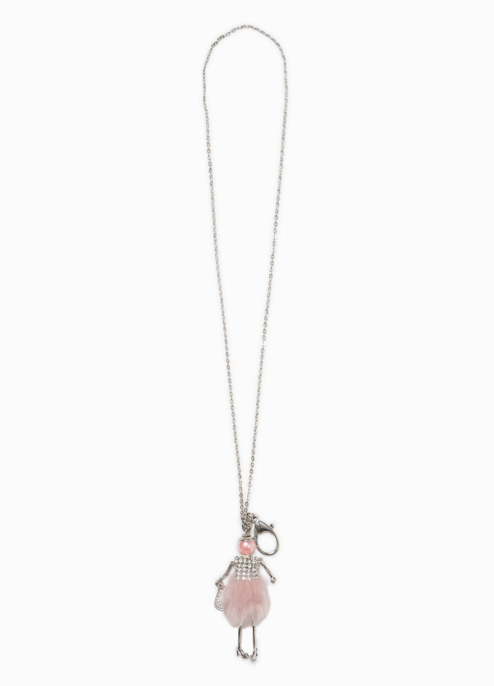 Iron necklace with small doll pendant
