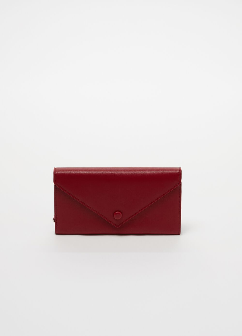 Leather-look wallet with flap