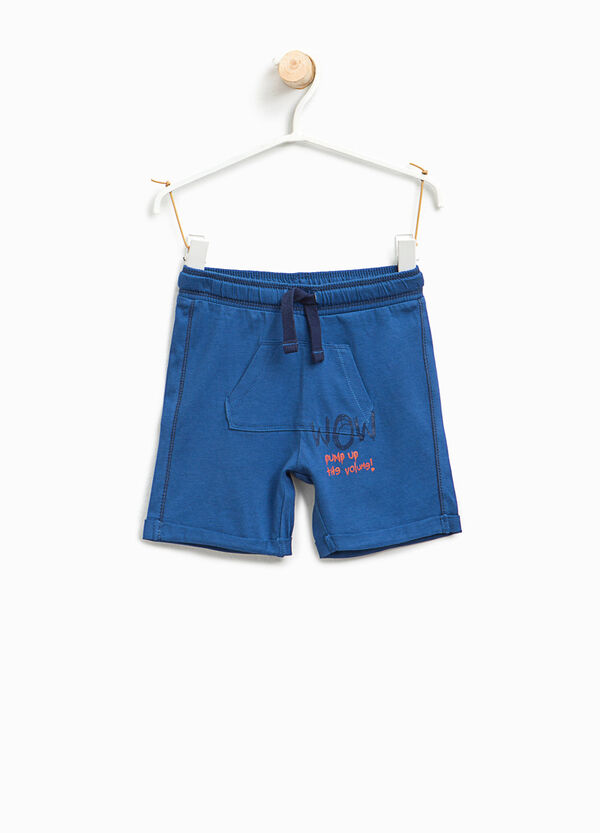 Cotton Bermuda shorts with pouch pocket | OVS