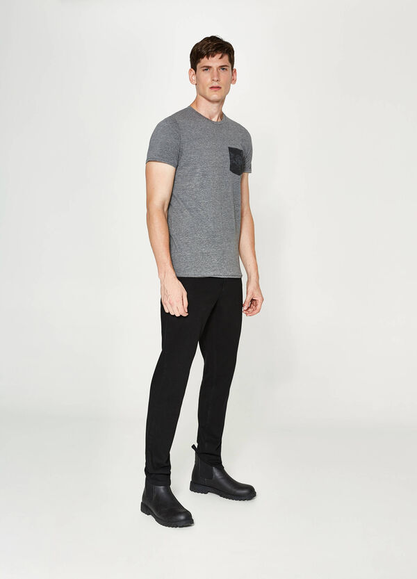 Mélange T-shirt with pocket | OVS