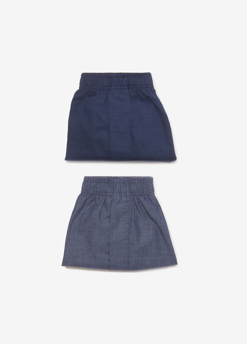 Pack of two boxers in cotton blend poplin