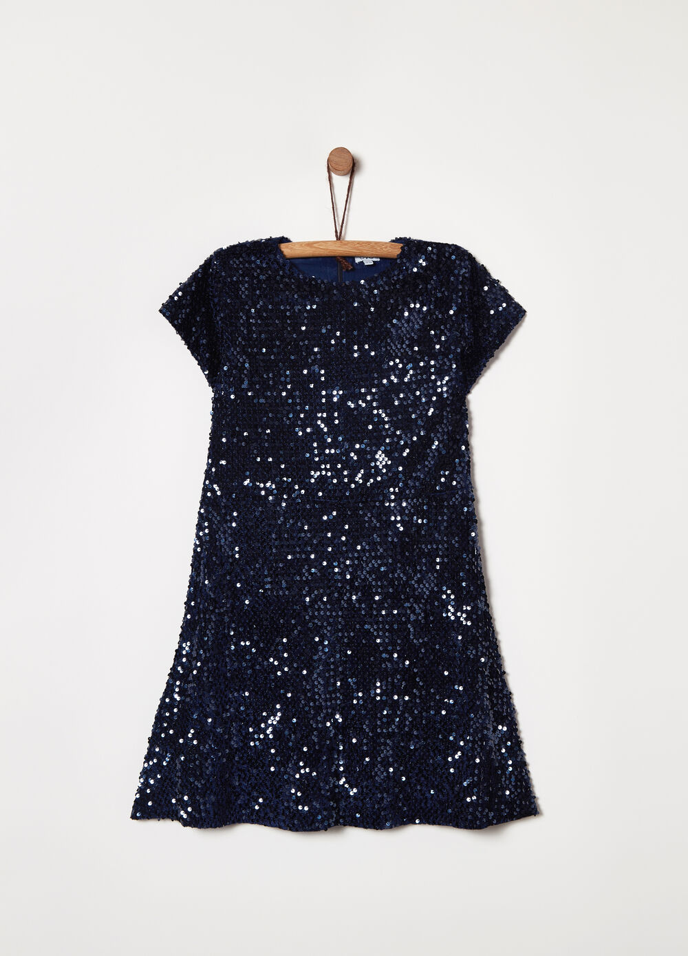 Chenille dress with sequins
