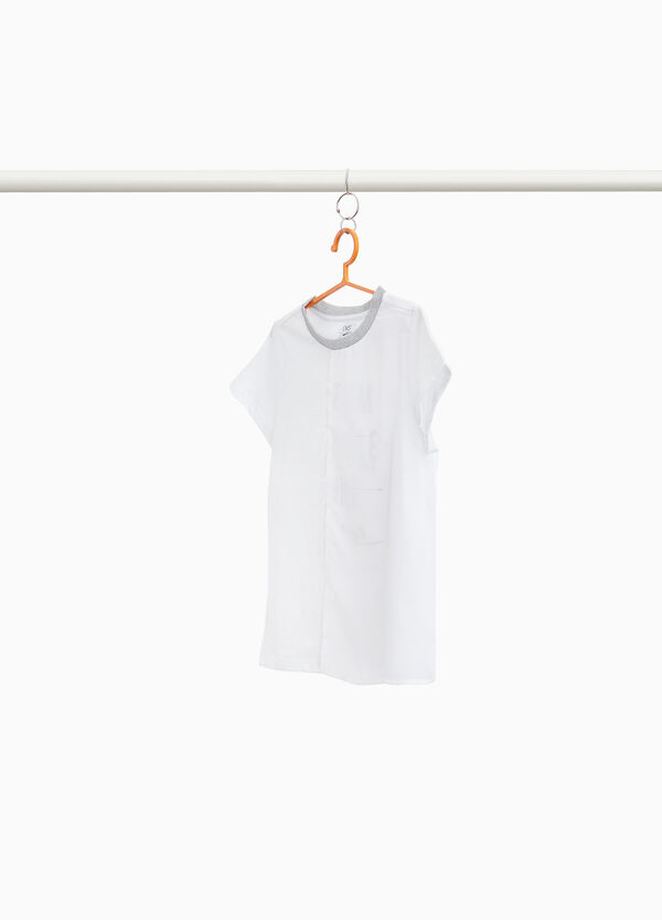 Cotton blend T-shirt with shiny lettering
