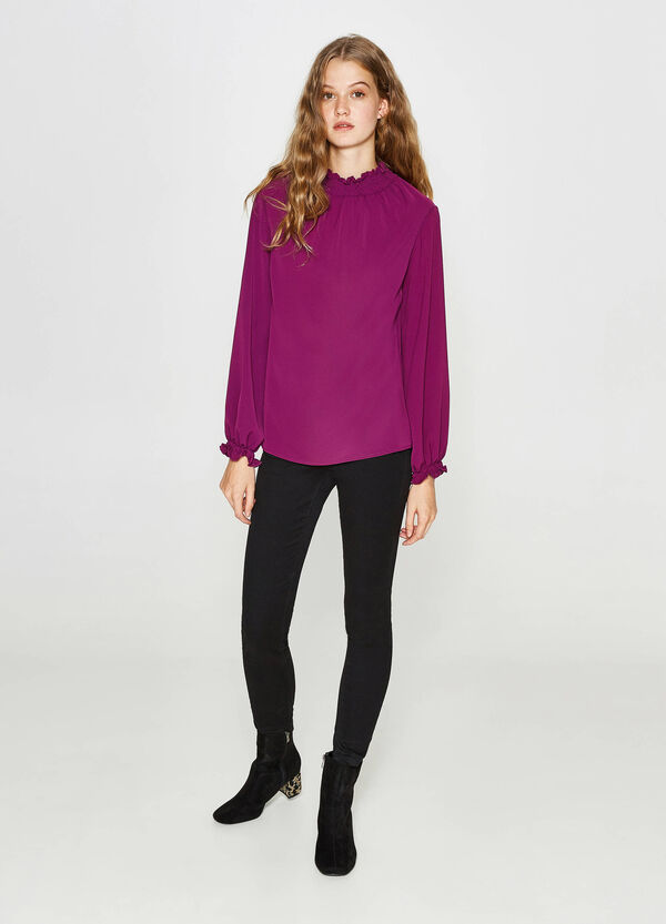 Stretch blouse with elasticated neckline   OVS