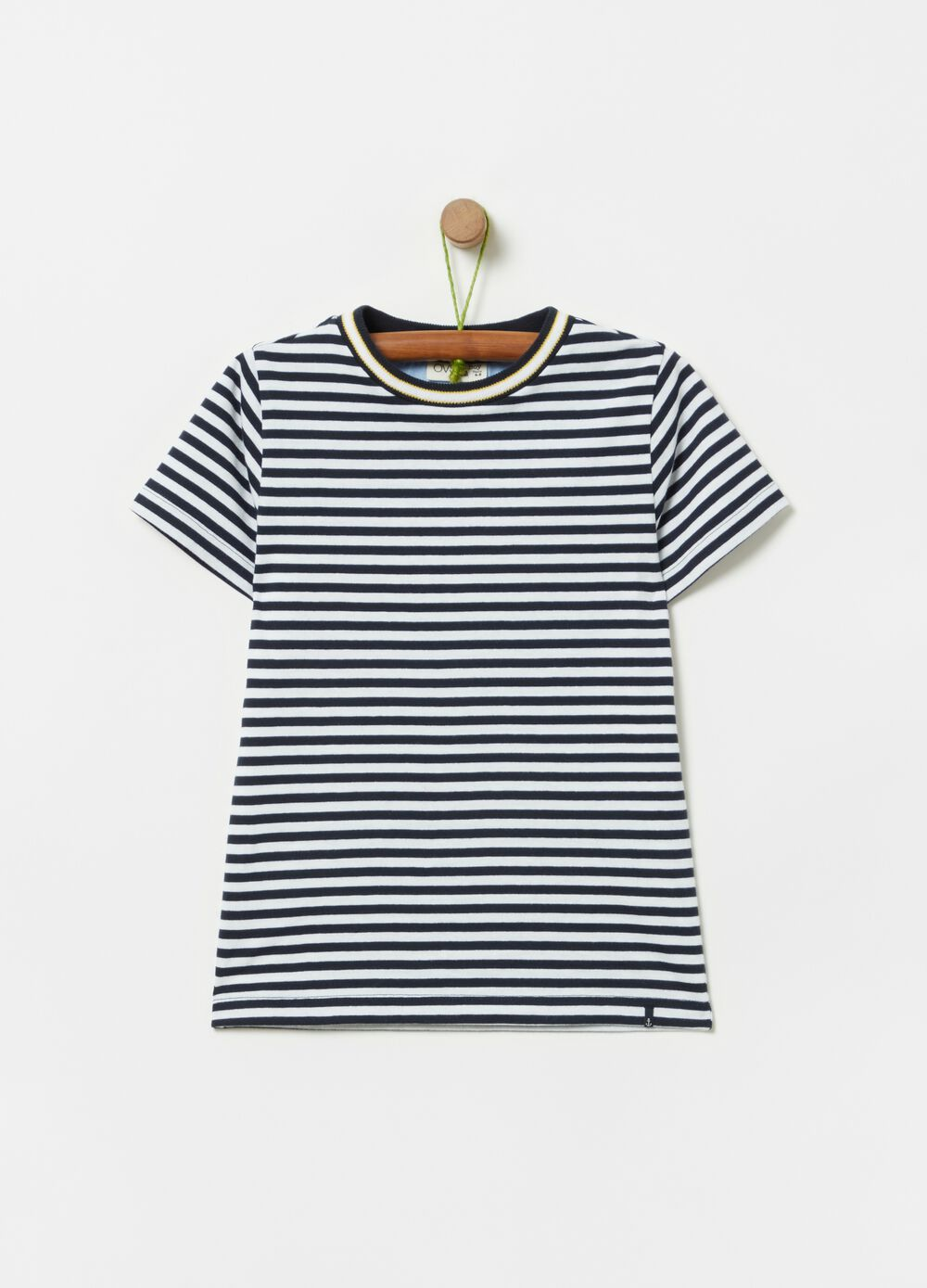 100% organic cotton T-shirt with stripes