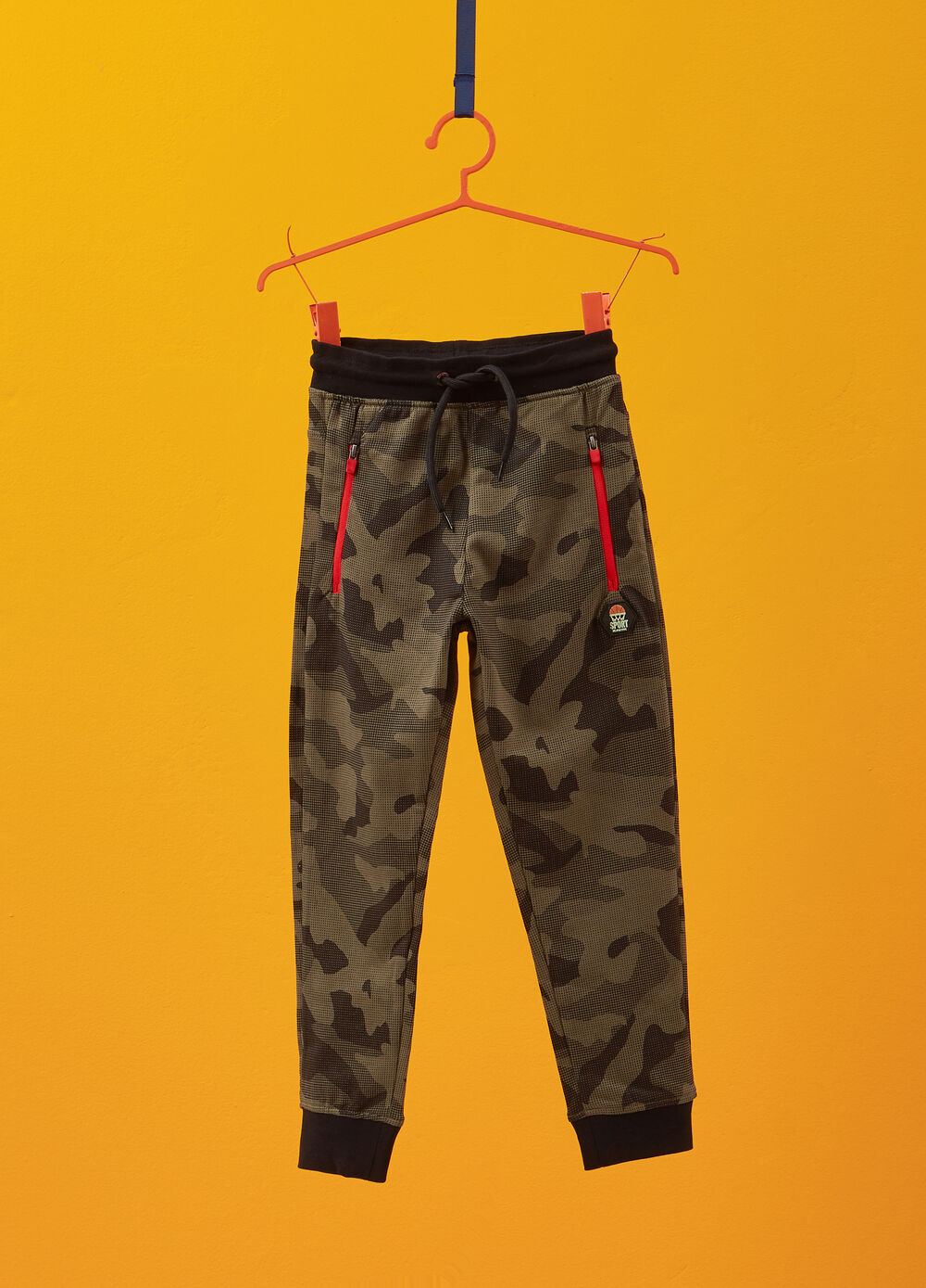 100% cotton trousers with camouflage pattern