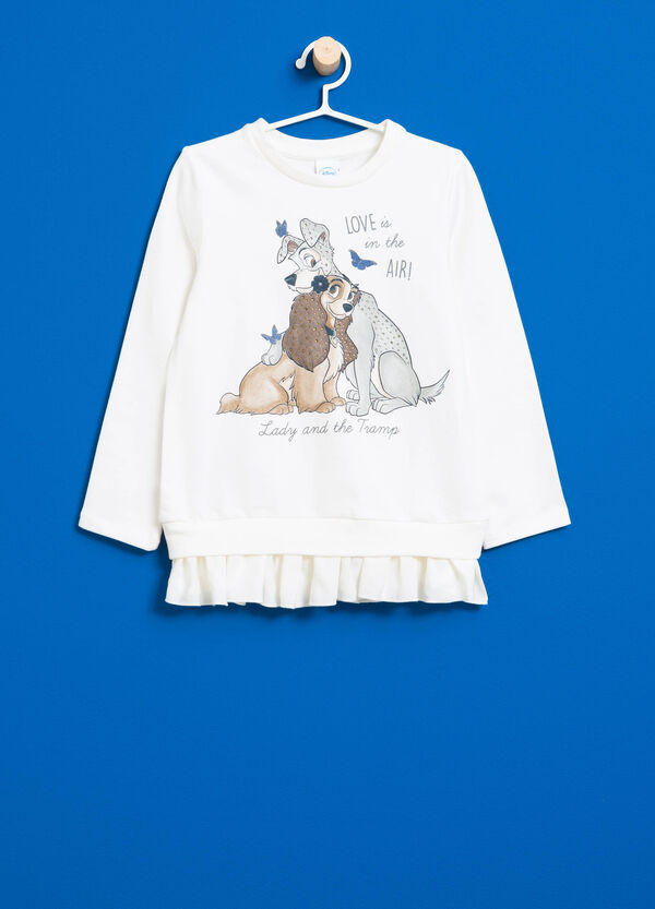 Lady and the Tramp sweatshirt with flounces | OVS