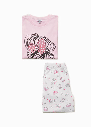 Pyjamas with glitter girl print