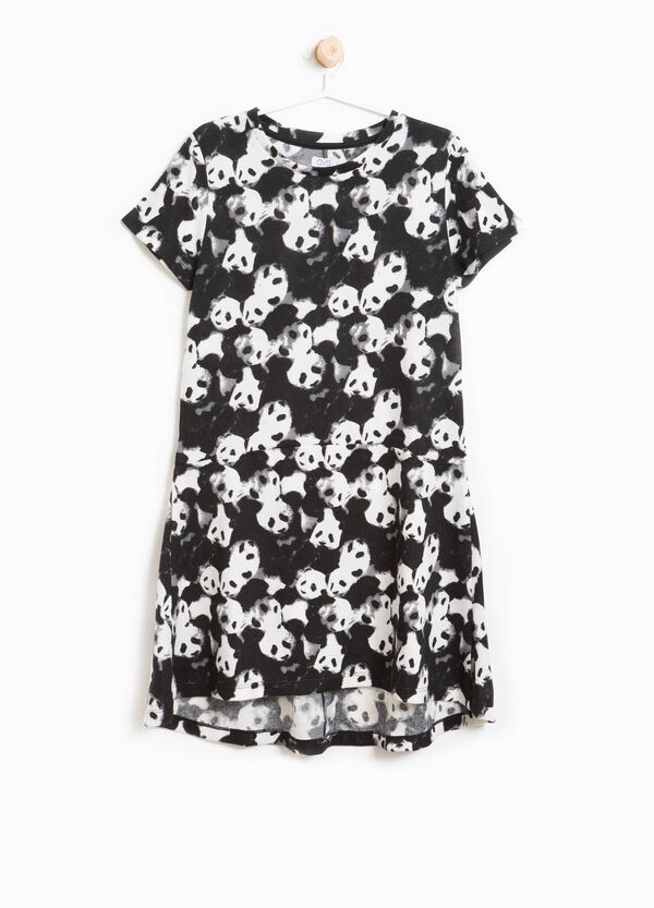 Panda pattern stretch dress | OVS