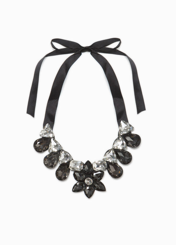 Necklace with glass diamantés | OVS