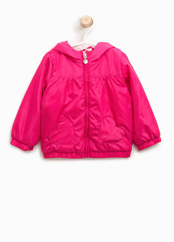 Jacket with heart-shaped pockets