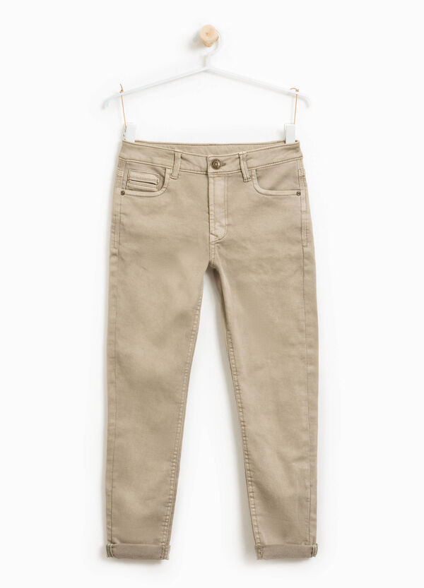 Stretch cotton blend trousers | OVS