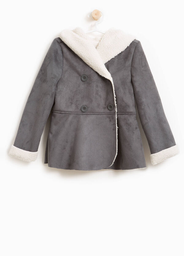 Double-breasted suede coat | OVS
