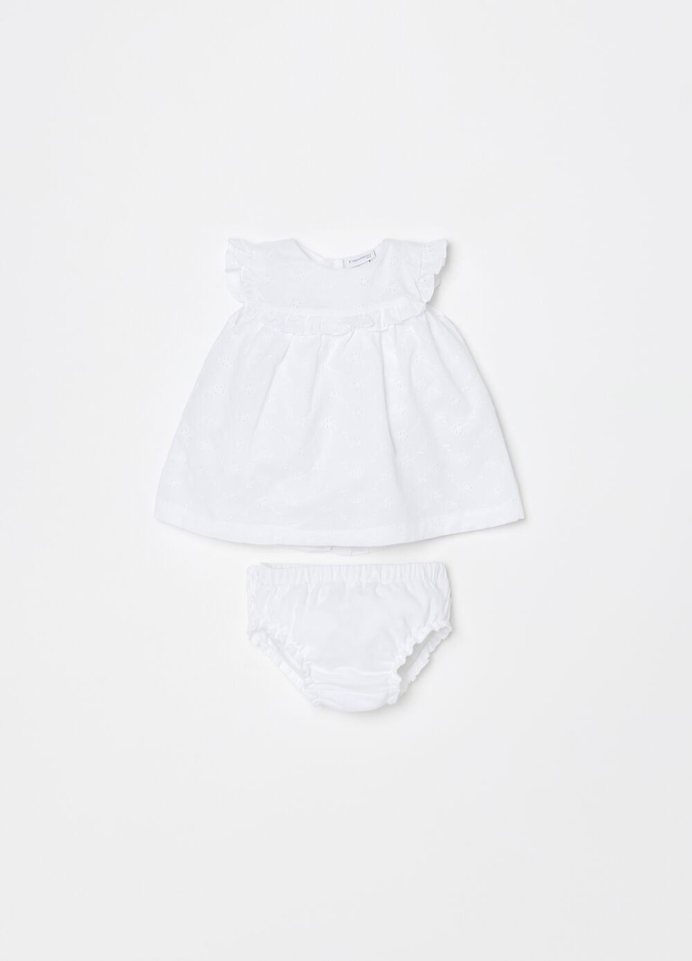 Dress and briefs set in 100% cotton