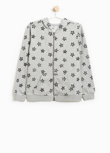 100% cotton sweatshirt with stars