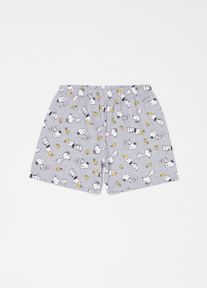 Jersey Snoopy pyjamas with T-shirt and shorts
