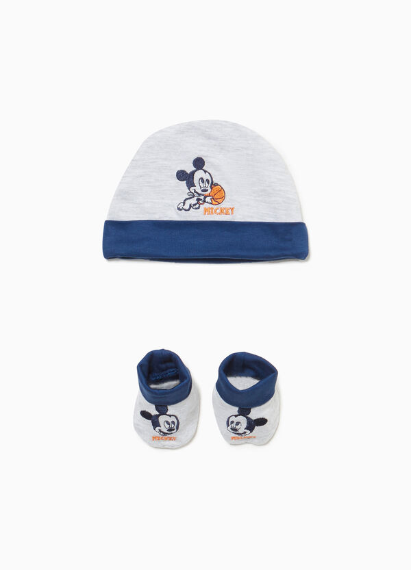 Mickey Mouse hat and shoes set