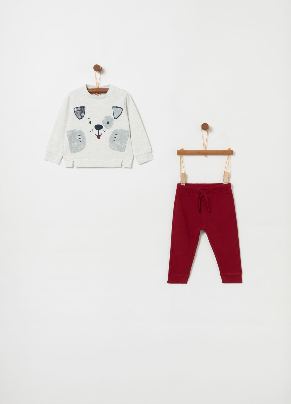 French terry jogging set with print