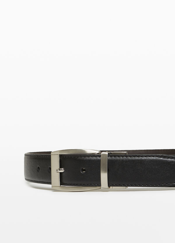 Textured-effect belt with one loop