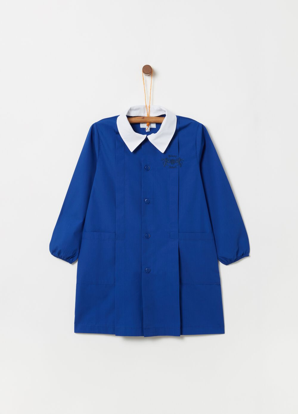 School smock with contrasting collar