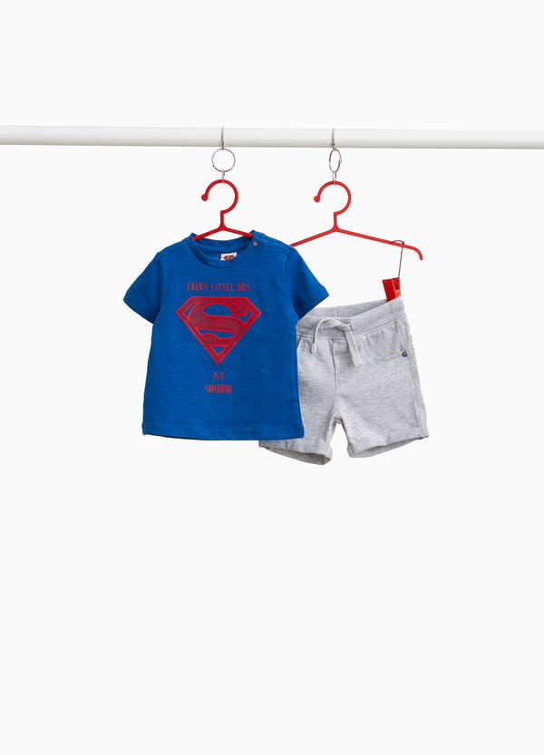 100% cotton outfit with Superman print