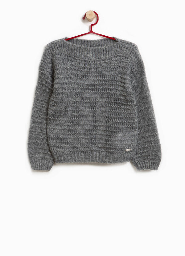 Wool and mohair blend knitted pullover | OVS