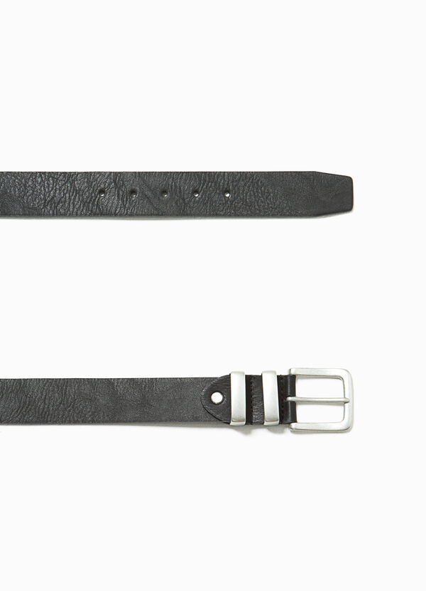 Textured belt with two loops | OVS