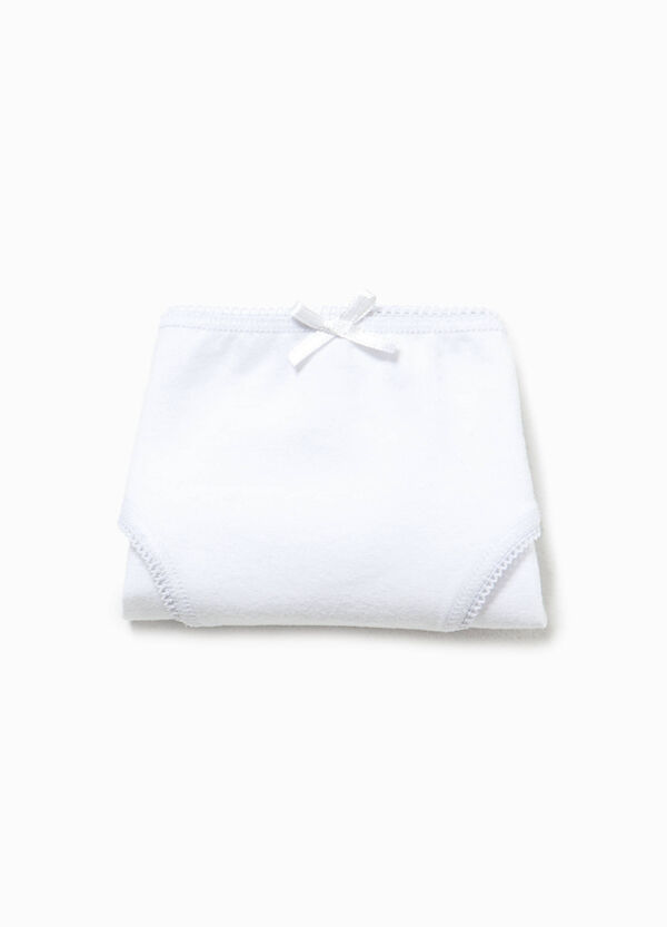 Organic cotton stretch briefs with bow | OVS