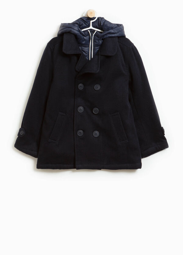 Double-breasted coat in stretch viscose | OVS