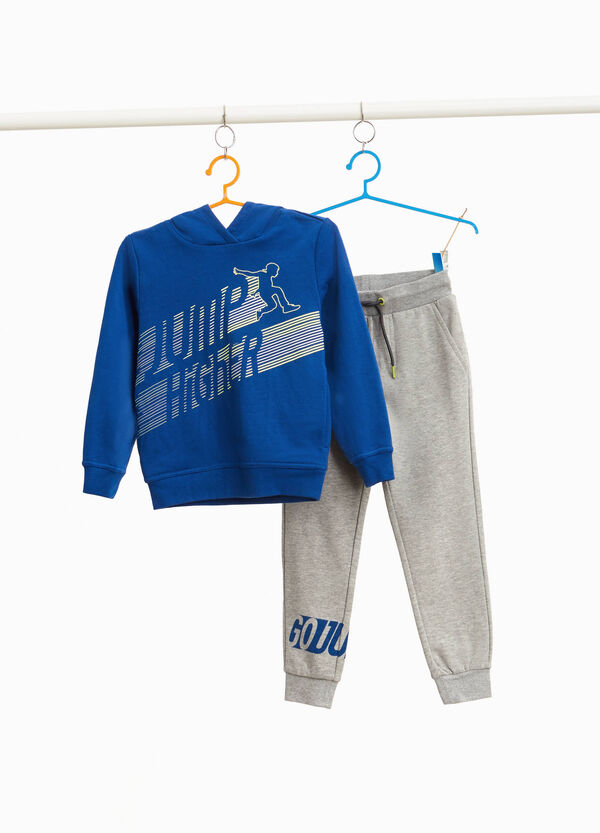 Cotton blend printed tracksuit