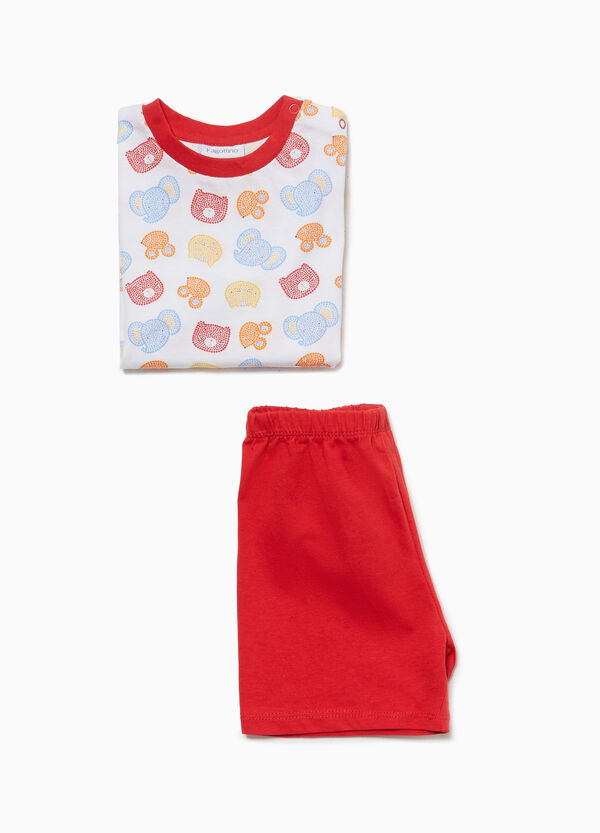 Cotton pyjamas with animal pattern
