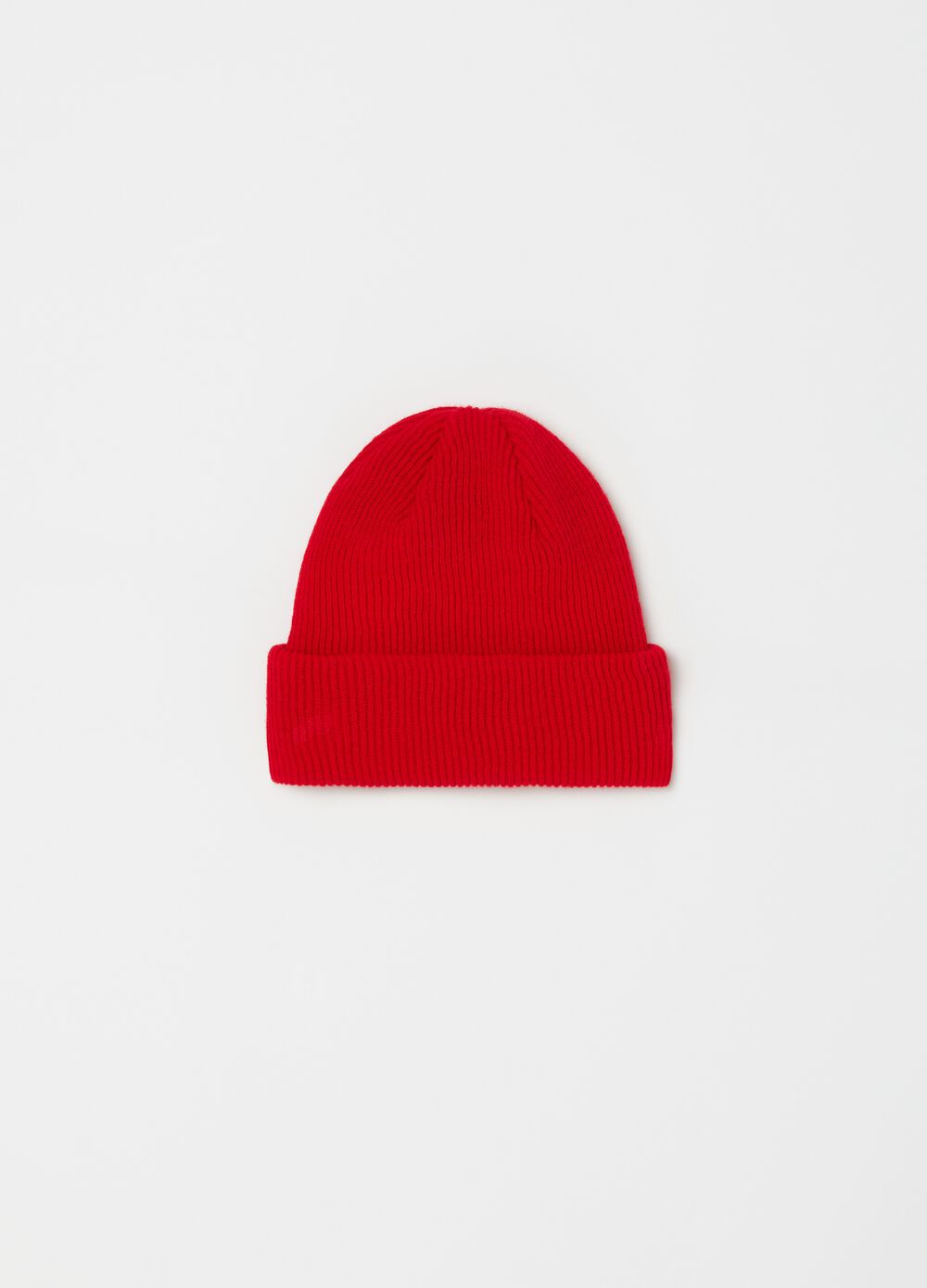 Solid colour narrow ribbed hat