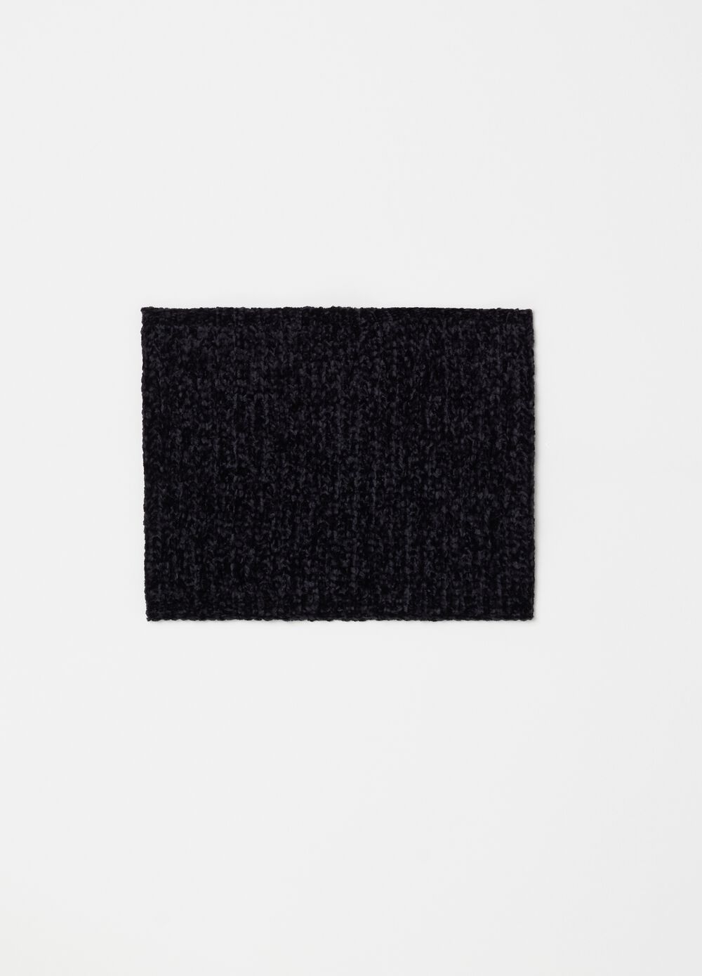 Knitted chenille scarf