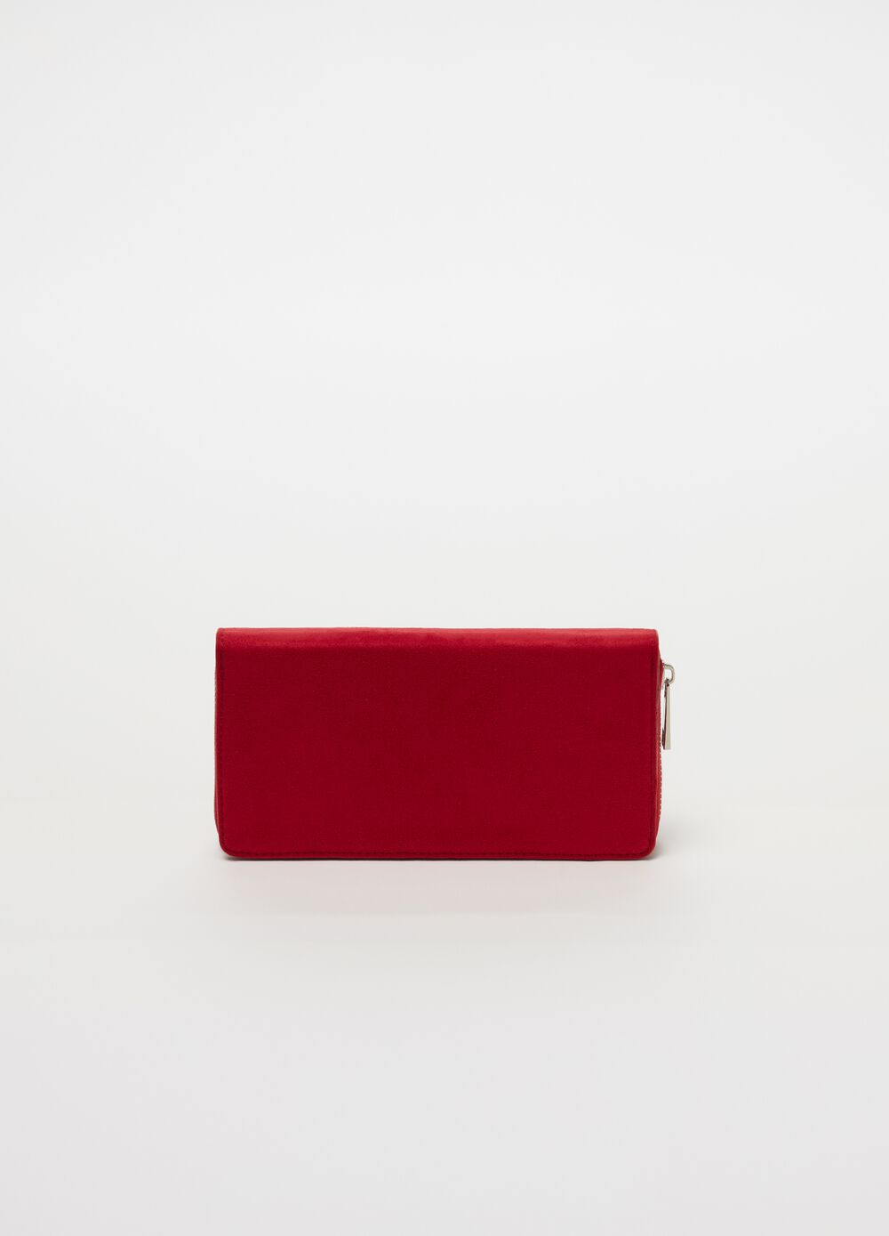 Leather-look wallet with zip