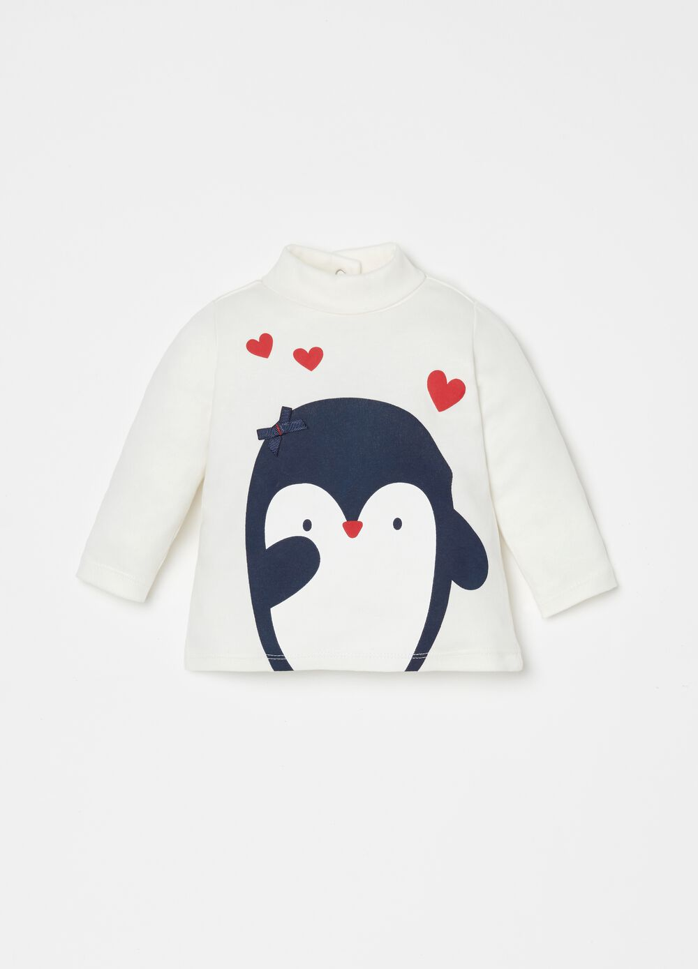 100% organic cotton T-shirt with penguin