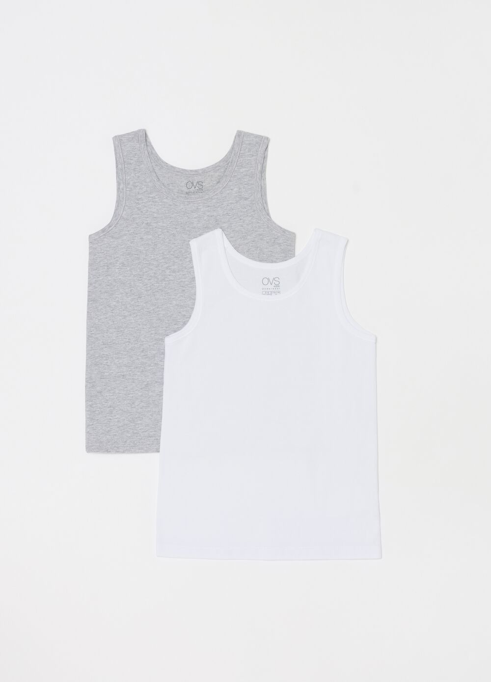 Two-pack stretch organic cotton racerback vests