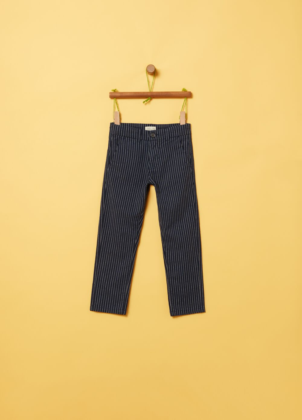Trousers with striped pattern